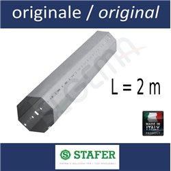 Rullo ottagonale per tapparelle diam. 60 mm lungh. 2 metri