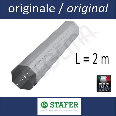Octagonal tube diam. 60 mm