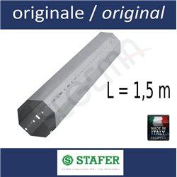 Rullo ottagonale per tapparelle diam. 60 mm lungh. 1,5 metri