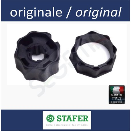 STAFER octagonal 70mm tube set of adapters