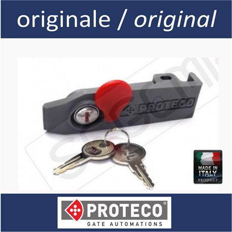 Release lever with key for operator MEKO