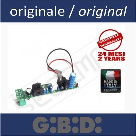 Battery charger board for GIBIDI automatisms