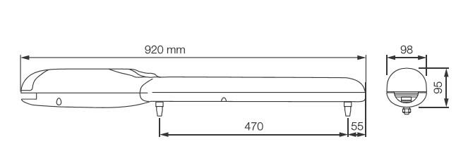 Dimensioni dell'operatore WG5024
